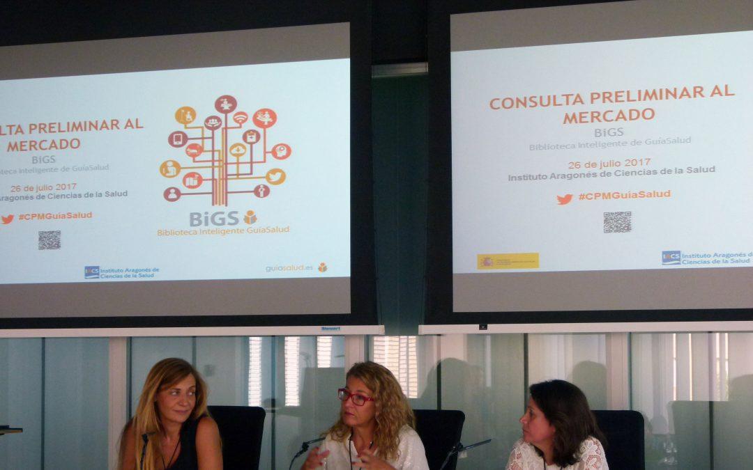 El IACS saca a licitación la contratación del desarrollo de la Biblioteca Inteligente de GuíaSalud (BiGS)