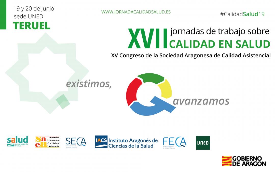 Teruel acogerá las XVII Jornadas de Trabajo sobre Calidad en Salud