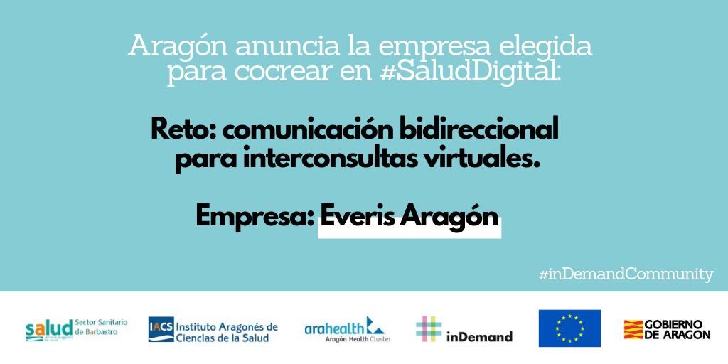 Aragón anuncia la empresa elegida para cocrear en Salud Digital