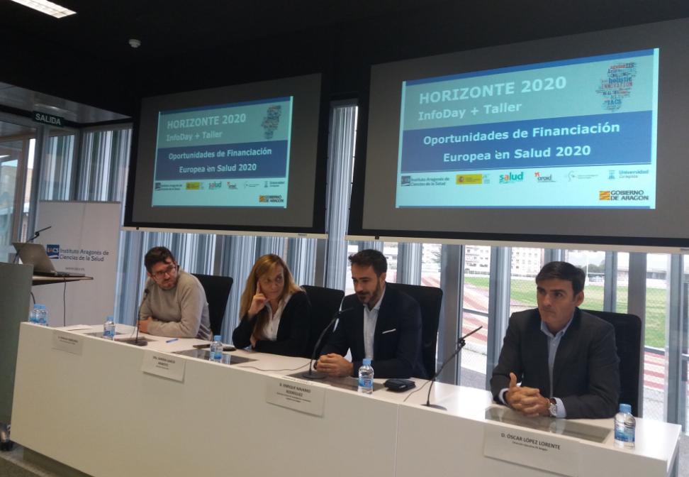 El CIBA acoge la jornada Oportunidades de financiación europea en Salud 2020