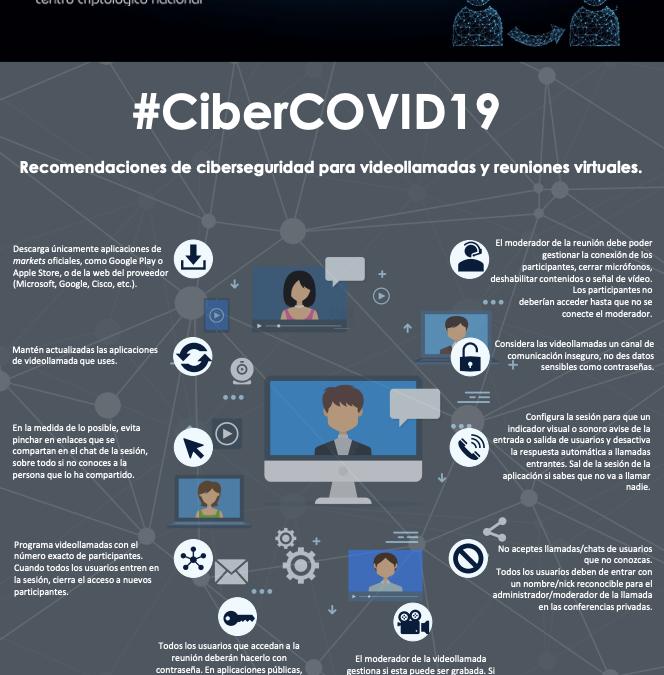 Recomendaciones de ciberseguridad para videollamadas y reuniones virtuales