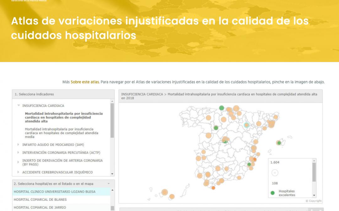 Un nuevo Atlas pone en relieve las diferencia en calidad asistencial entre los hospitales del sistema público de salud